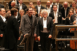 Composer Thomas Adès with Sir Simon Rattle and The Berliner Philharmoniker (c) 2007, Chris Lee